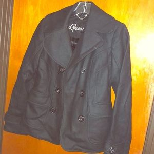 Guess Black Peacoat